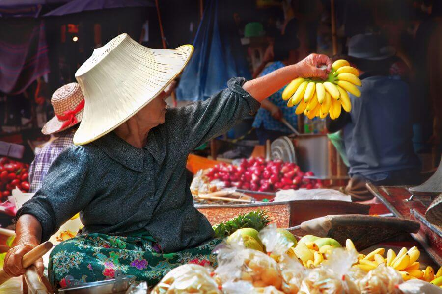 Thailand - Tour floating market drijvende markt - Traditioneel Amphawa Tour