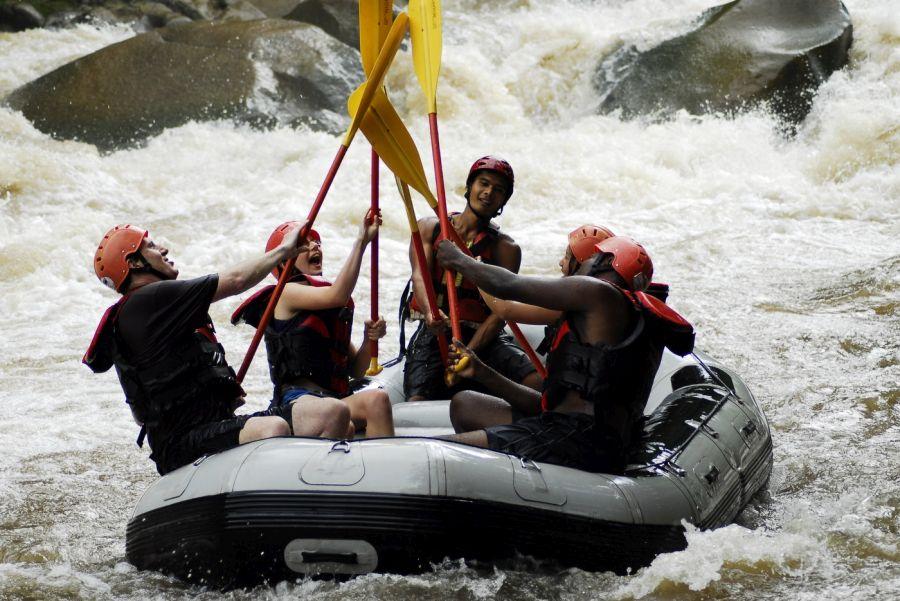 Thailand Wild water rafting